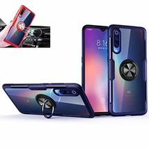 Xiaomi Mi 9 SE Case,360°Rotating Ring Kickstand Protective (Blue/black) - $22.78