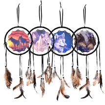 "6.5"" WOLF DREAMCATCHER with FEATHERS 18"" total ... - $9.99"
