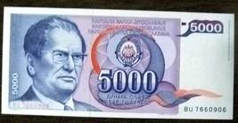 Yugoslavia 5000 dinars with Josip Broz Tito 1985 UNC - $2.97
