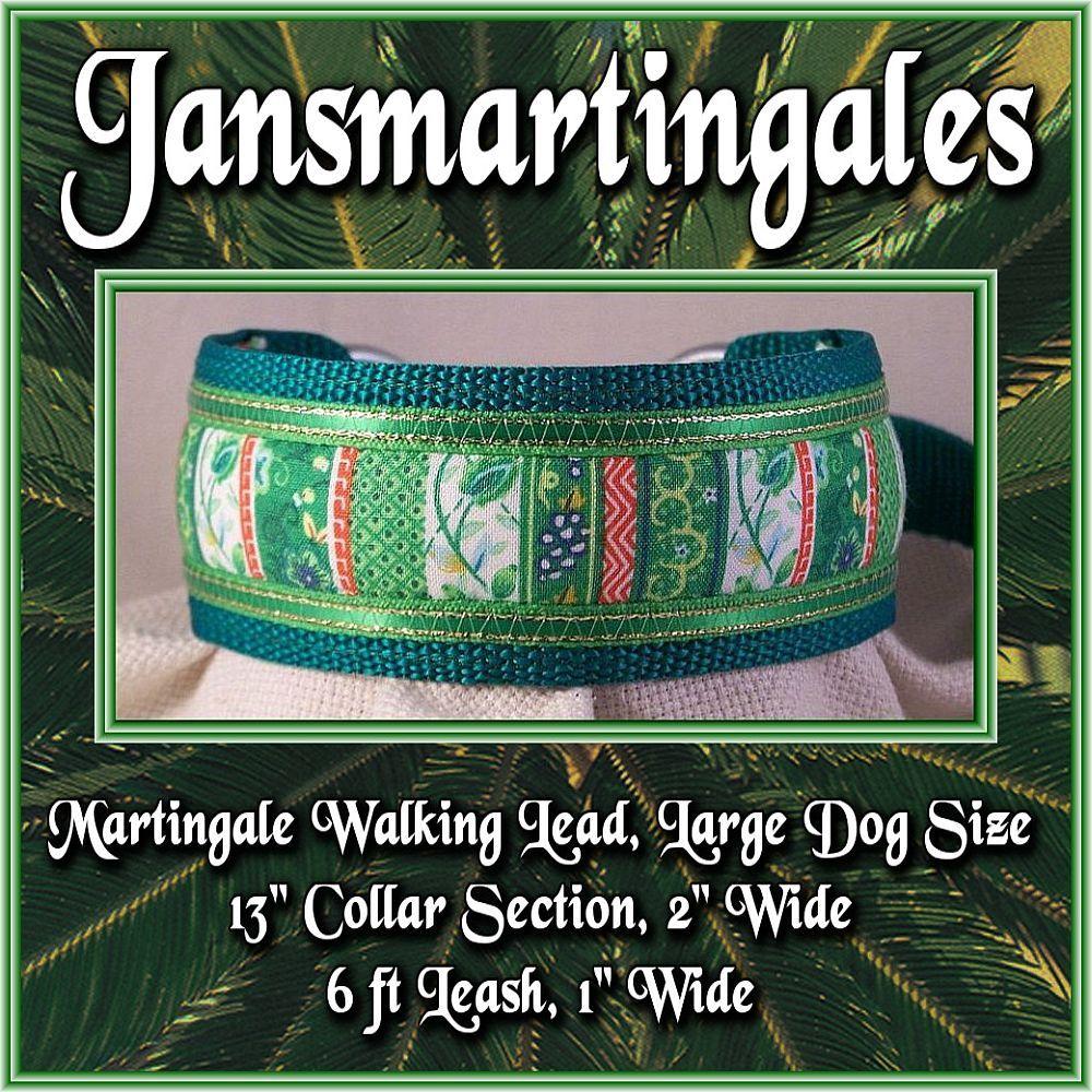 Jansmartingales, Martingale Collar/Leash Combination, Large Dog Size, grn1201