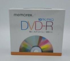New! Memorex DVD+R Ten 10 Pack Blank Discs Media & Slim Cases 16x 4.7GB ... - $11.87