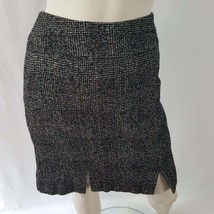 Jones New York Tweed Skirt Women's Size 10 Black White Knee Length Dress... - $11.50
