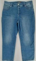 "Chicos So Slimming Blue Womens Distressed Denim Capri Jeans Size 1 -32""x... - $14.20"