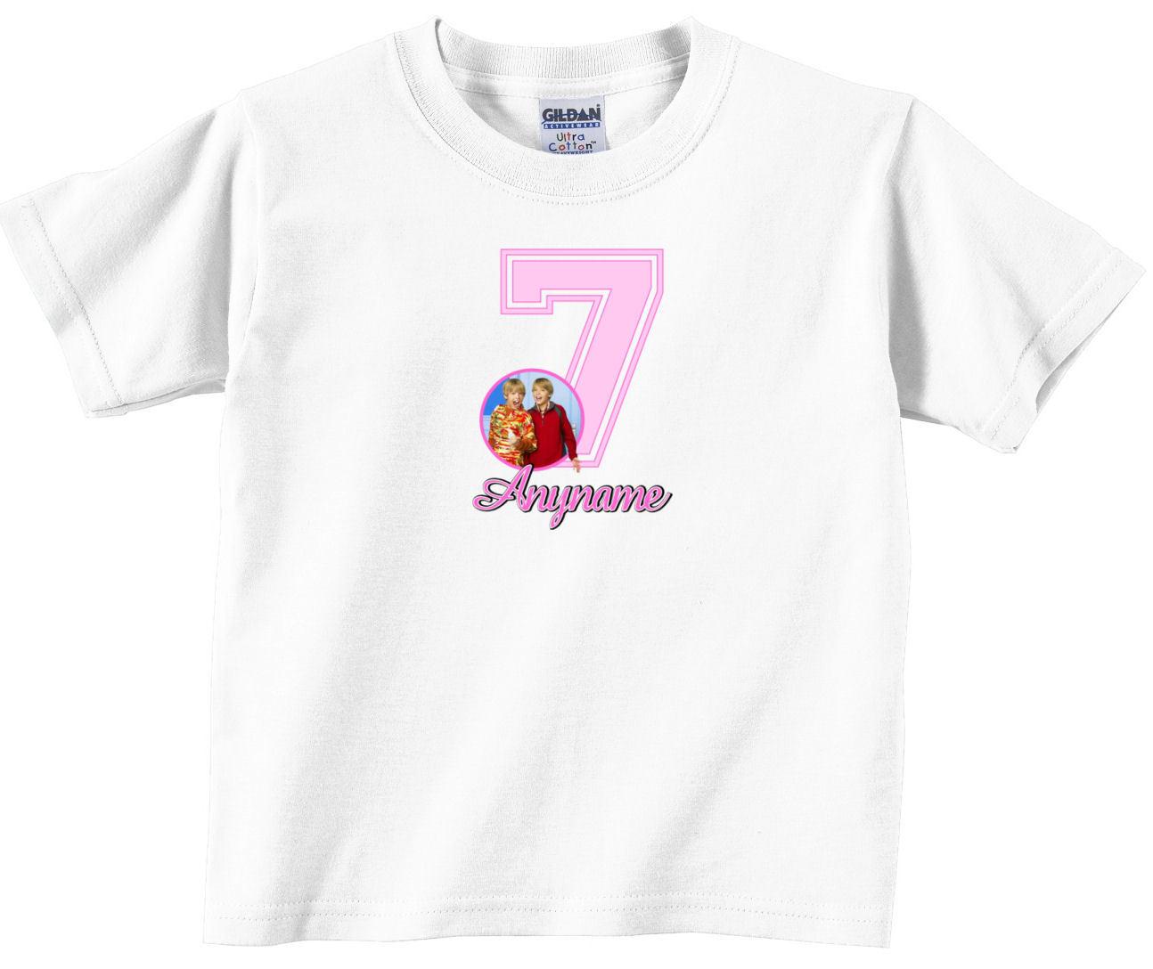 Zack & Cody Custom Personalized Birthday T-Shirt 02