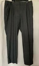 Ann Taylor Loft Julie Trouser Dress Pants Black Check Career Stretch Size 8 - $14.84