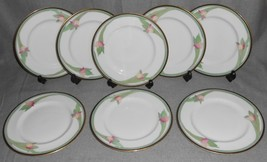 1985 Set (8) Royal Doulton AWAKENING PATTERN Salad Plates MADE IN ENGLAND - $49.49