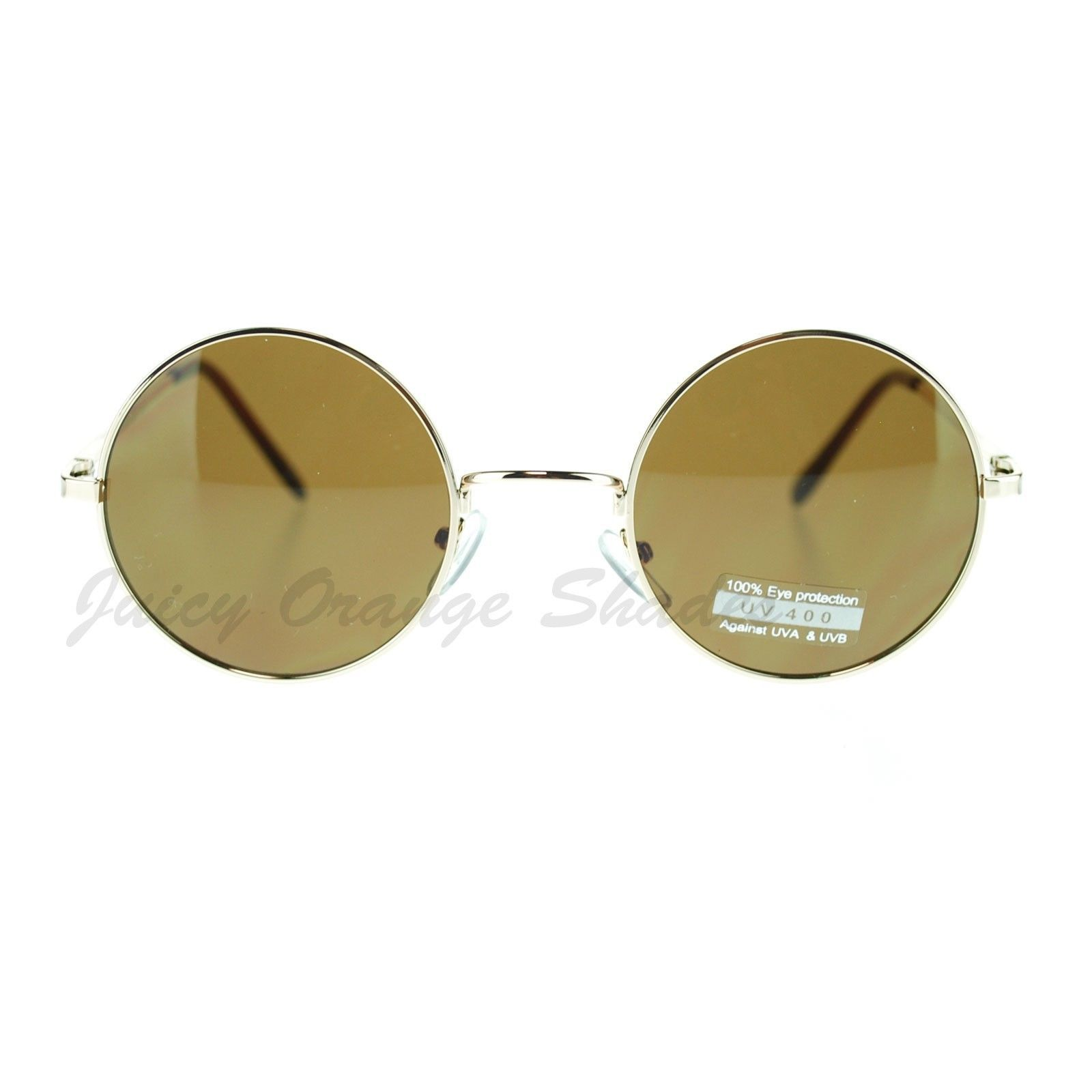 Thin Lite Metal Frame Round Circle Sunglasses Spring Hinge