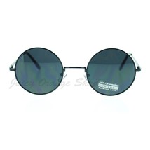 Thin Lite Metal Frame Round Circle Sunglasses Spring Hinge - $9.95