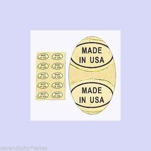 """1,000 Peel Off Adhesive LABELS ~ Oval Shape 1//2/"""" x 5//16/""""  Marked /""""GOLD FILLED/"""""""