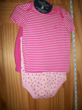 Faded Glory Baby Clothes 3M-6M Newborn Short Outfit Shirt Strawberry Bod... - $14.24