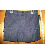 Faded Glory Baby Clothes 3T Toddler Girl Shorts Navy Denim Jeans Pull-up... - $8.54