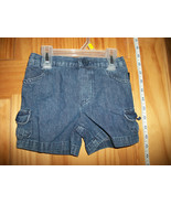 Faded Glory Baby Clothes 3T Toddler Girl Shorts Blue Denim Jeans Pull-up... - $8.54