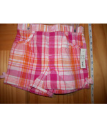 Faded Glory Baby Clothes 3T Toddler Girl Shorts Plaid Pink Orange Pull-u... - $9.49