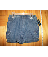Faded Glory Baby Clothes 4T Toddler Girl Shorts Blue Denim Jean Pull-up ... - $7.59