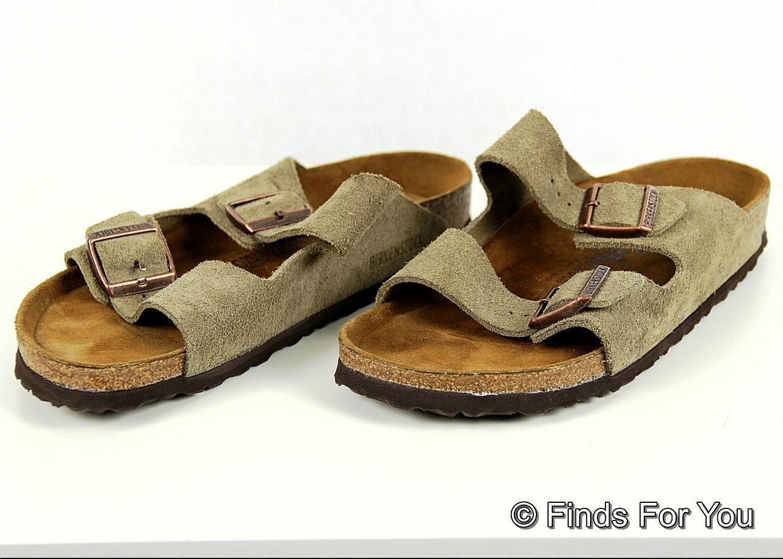 birkenstock taupe suade arizona sandal shoe size 11 5 42 130 us seller sandals flip flops. Black Bedroom Furniture Sets. Home Design Ideas