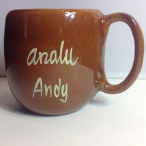 Vtg Kavacraft Hawaiian Analu Andy Brown Glazed Mug Pottery Made in Hawaii - $29.21