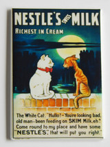 Cat Milk FRIDGE MAGNET poster advertisement nes... - $4.95