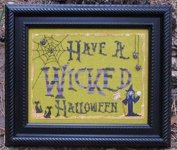 Have A Wicked Halloween cross stitch chart Designs by Lisa - $6.30