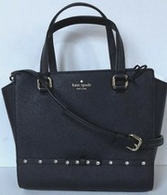 New Kate Spade small Hadlee Laurel Way Jeweled Saffiano Leather Tote Black - $109.00