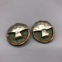 Vintage Handcrafted Metal Clip On Earrings - $53.45
