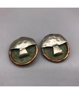 Vintage Handcrafted Metal Clip On Earrings - $53.45
