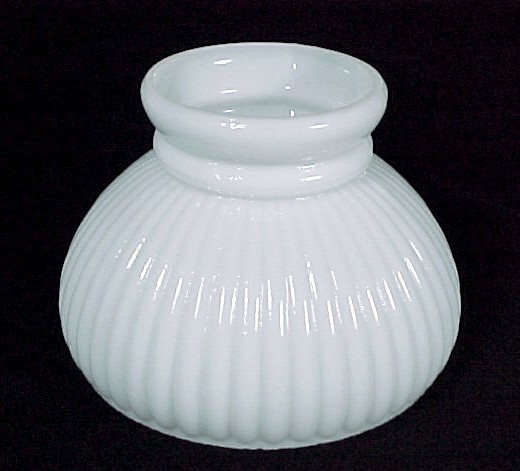 Glass Wall Light Lamp Shades : Ribbed Milk Glass 6