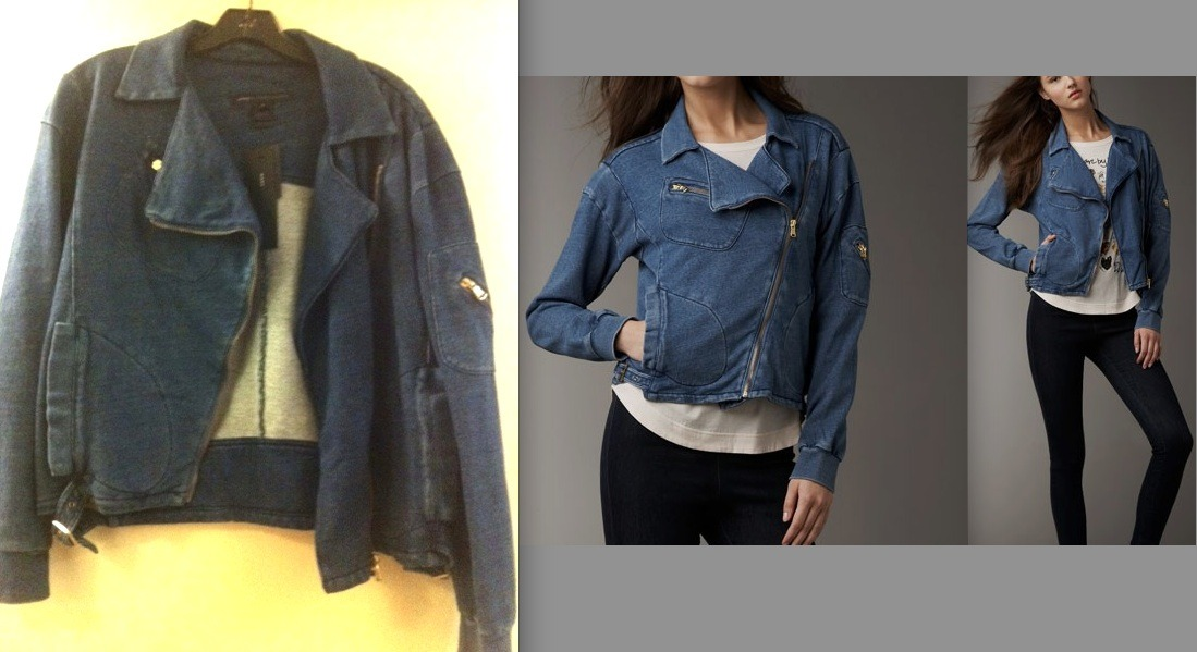 Mj denim biker jacket