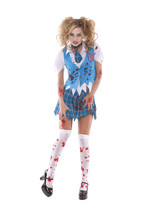 Elegant Moments School Girl Specter Zombie Halloween Costume S M L XL 9854 - $47.99+