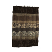 Felina Faux Fur-Trimmed Shower Curtain-1301-FFSC-FEL-MP - $38.46