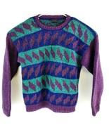 Lost Horizons Men's Geometric Color Block Himalayan Wool Knit Sweater Sz... - $69.30