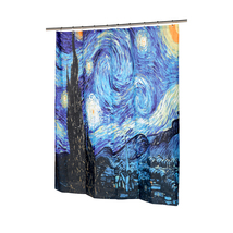 The Starry Night Fabric Shower Curtain-1301-FSC13-SN - $32.87