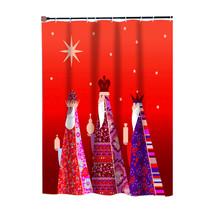 Carnation Home Fashions Three Kings Fabric Shower Curtain-1301-FSCC-THR - $30.89