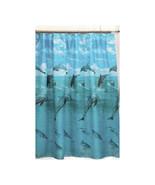 Dolphin Fabric Shower Curtain-1301-FSC-DOL - $22.99