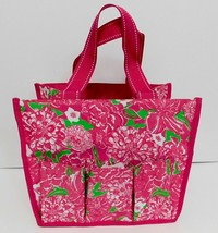 Lilly Pulitzer Tote Bag Shower Caddy Organizer Perfect for Dorm Pink Floral - $40.16