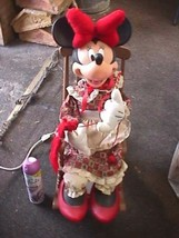 Disney Minnie Mouse Knitting in Rocking Chair Xmas 1996 Santa's Best Ani... - $138.59