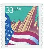 1999 33c Flag over City Red date, Coil Scott 32... - $1.29