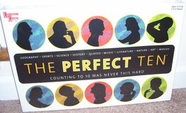 THE PERFECT TEN 3D Trivia Board Game NEW! 950 Questions University Games - $34.96