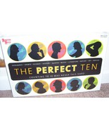 THE PERFECT TEN 3D Trivia Board Game 950 Questions University Games - $27.96