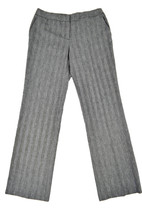 NINE WEST WOMENS BLACK WHITE HERRINGBONE STRIPED NEO CLASSIC PANTS 8 [69... - $13.88