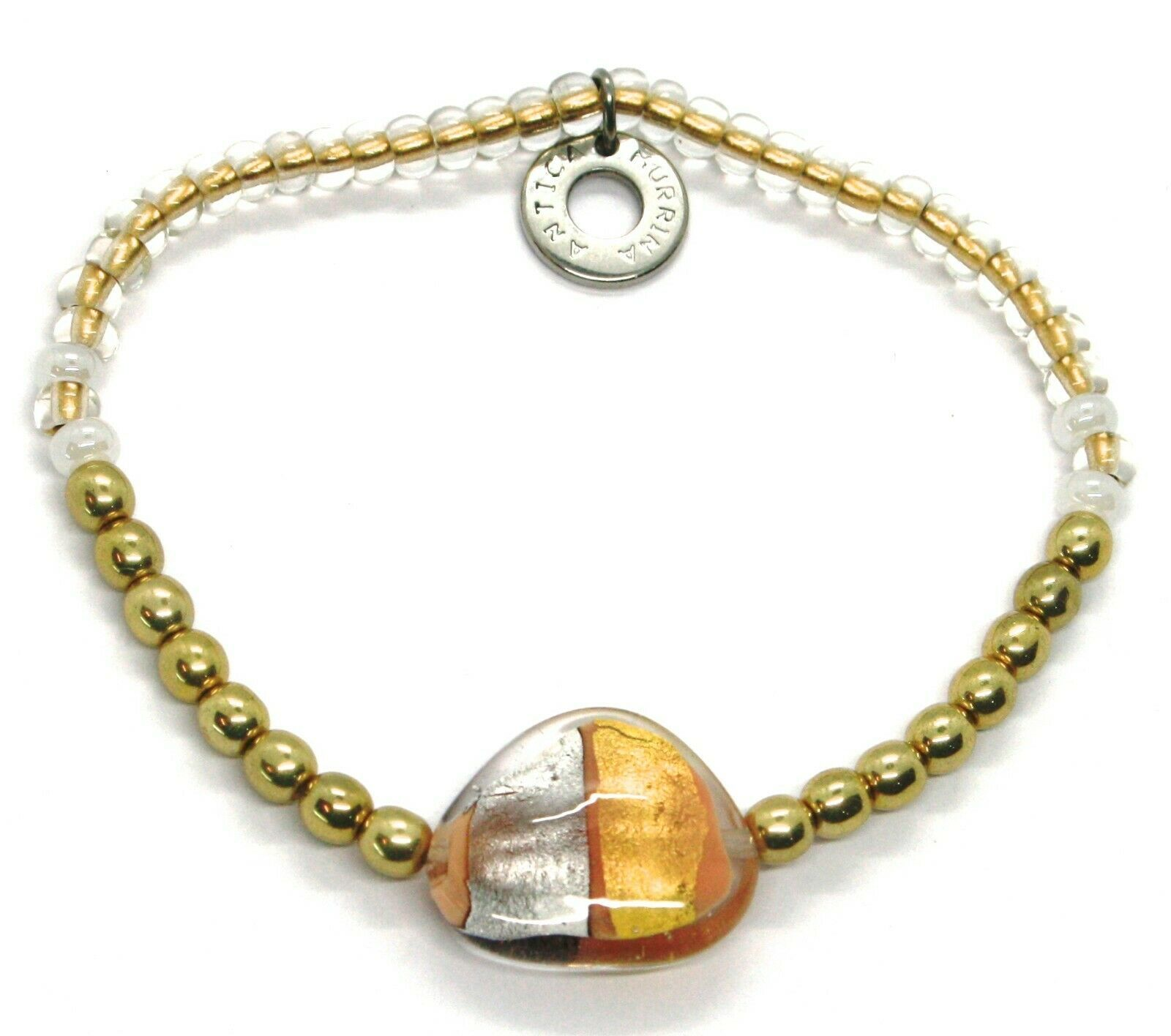 Bracelet Antica Murrina Venezia BR748A02, Moretta, Drop Banded, Elastic
