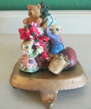 Vintage Mouse Family Christmas Stocking Hanger Holder Hook - $14.36