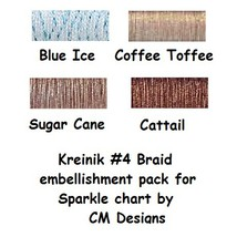 KREINIK BUNDLE #4 braid (4 spools) for Sparkle cross stitch chart CM Des... - $12.00