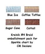 KREINIK BUNDLE #4 braid (4 spools) for Sparkle cross stitch chart CM Des... - $12.00