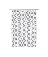 Geneva Fabric Shower Curtain with Poly Taffeta Flocking in Black/White - $30.81