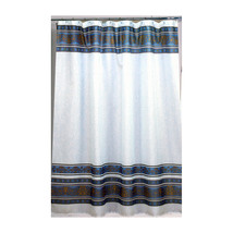 Fleur Fabric Shower Curtain in Slate-1301-FSC-FL-24 - $24.99