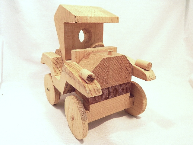 Primary image for Antique Auto Unfinished Wood Craft Project - Very Cool Piece, Great Detail!