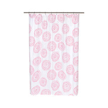 Lucerne Fabric Shower Curtain with Poly Taffeta Flocking in Fuchsia/White - $30.81