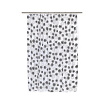 Vienna Fabric Shower Curtain with Poly Taffeta Flocking in Black/White - $30.81