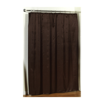 Lauren Dobby Diamond-Piqued Fabric Shower Curtain in solid Brown-1301-FS... - $30.69