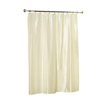 Lauren Dobby Diamond-Piqued Fabric Shower Curtain in solid Bone-1301-FSC... - $24.99